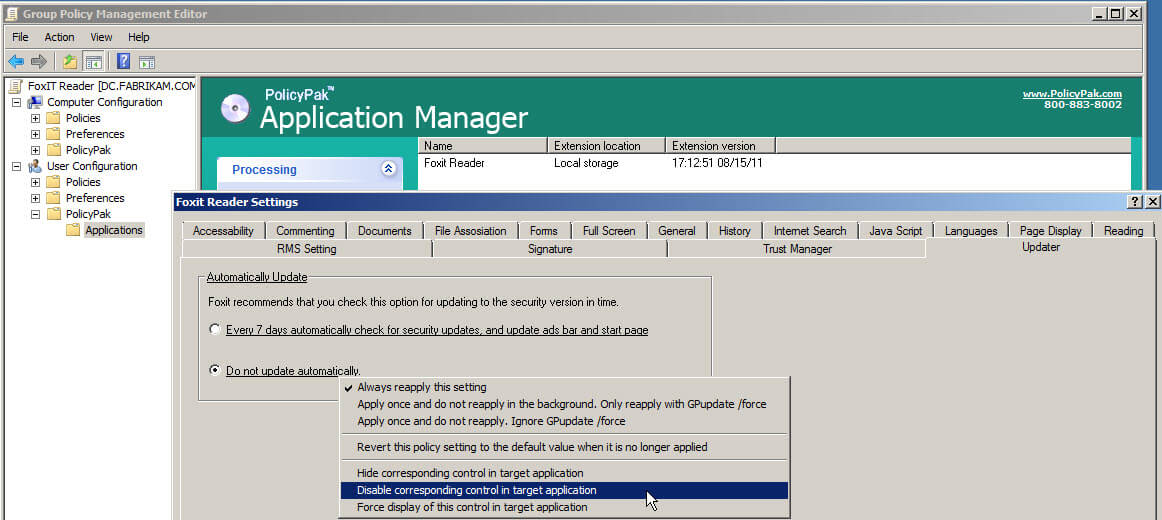 manage-foxit-reader-using-group-policy-policypak-1