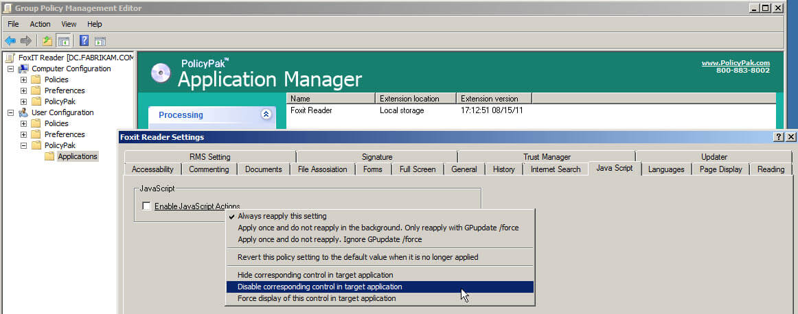 manage-foxit-reader-using-group-policy-policypak-2