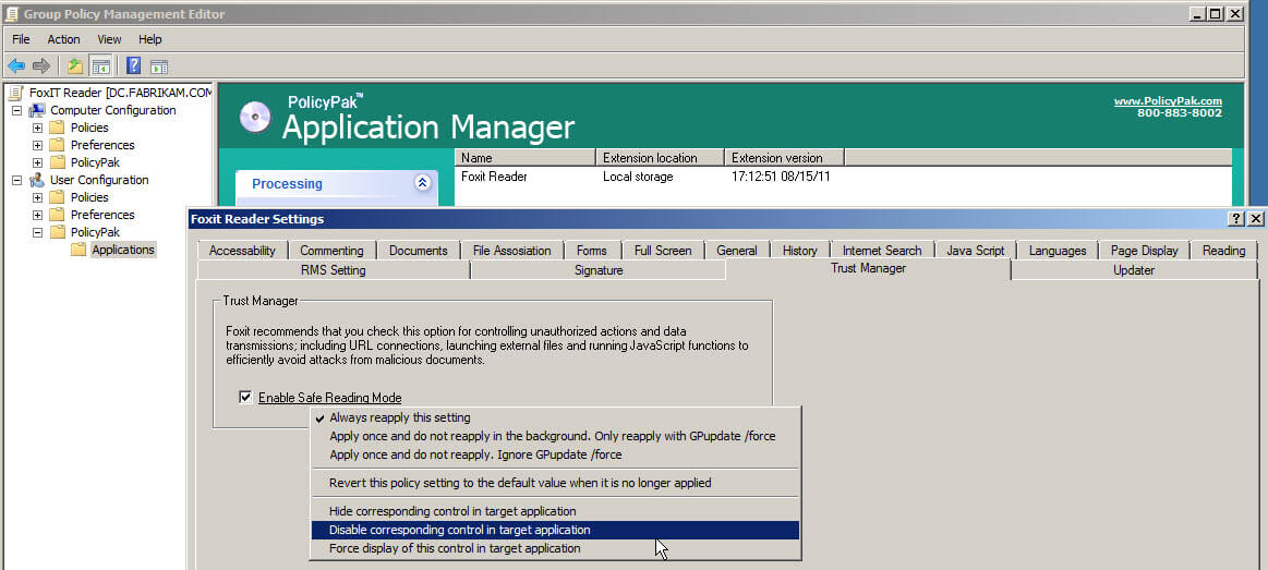 manage-foxit-reader-using-group-policy-policypak-3