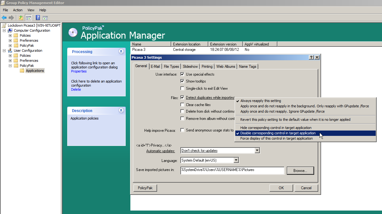 manage-google-picasa-using-group-policy-policypak-2