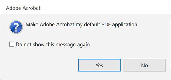 Adobe Acrobat Dialog