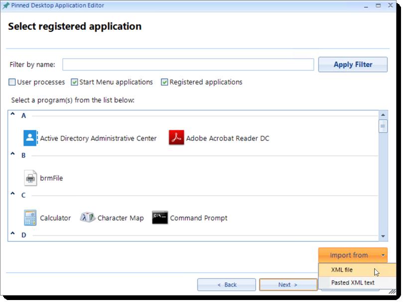 Taskbar XML Exporter