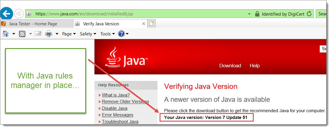 see that the latest Java 8 was used