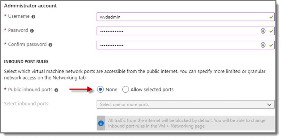Create Administrator Account