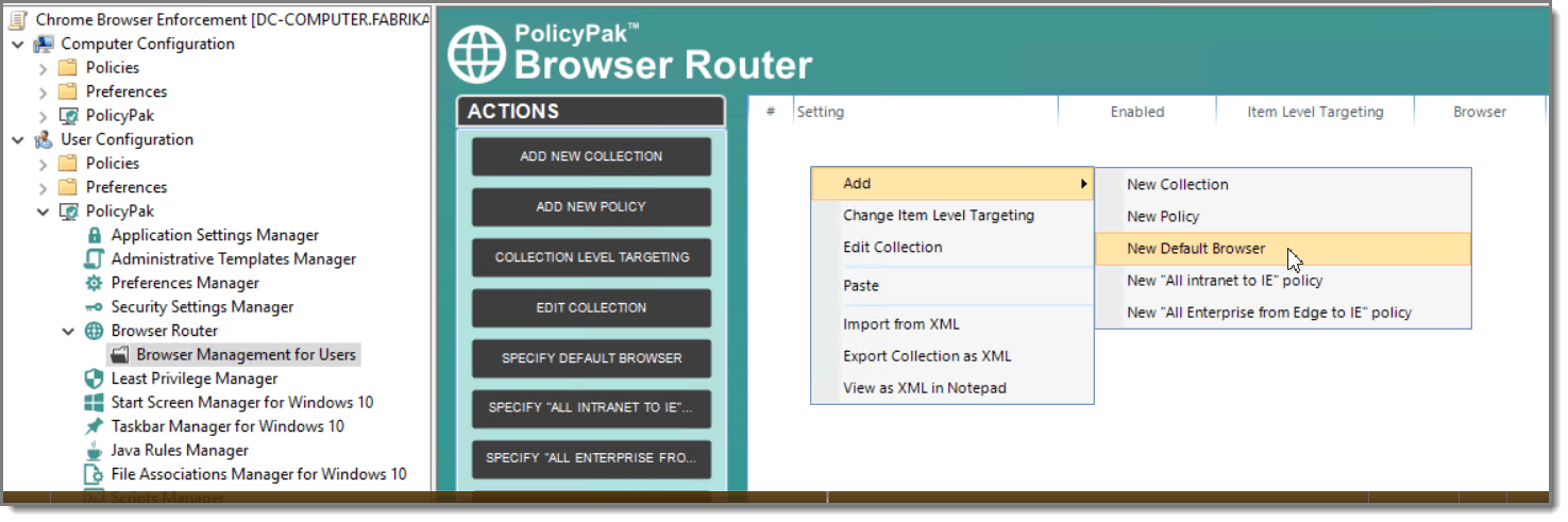 Chrome Group Policy Browser Router