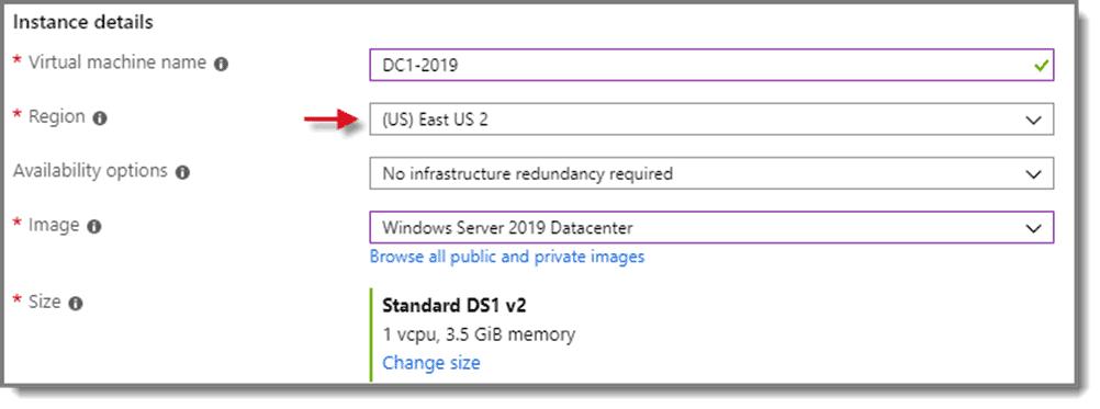 VM Instance Details