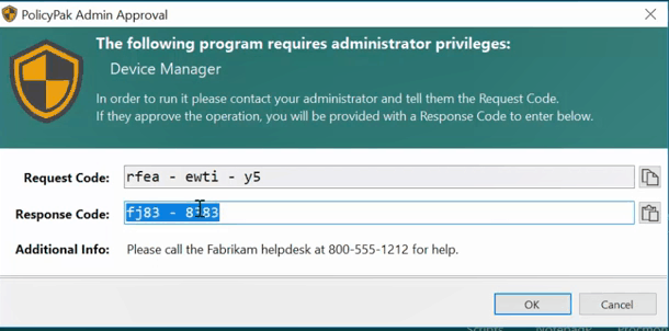 Least Privilege Management Admin Approval