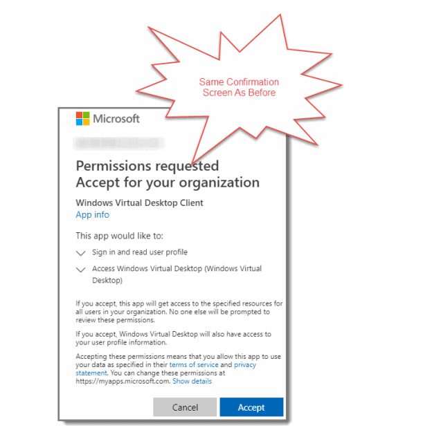 Permissions requested again
