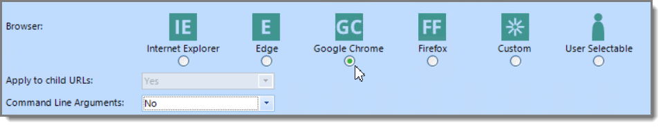 Select Browser Chrome Group Policy