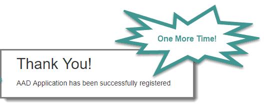 Second confirmation for registration