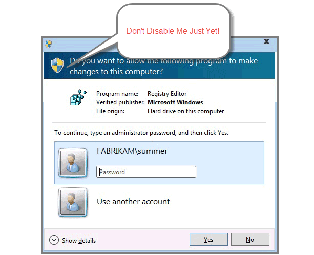 UAC Prompt Windows 10