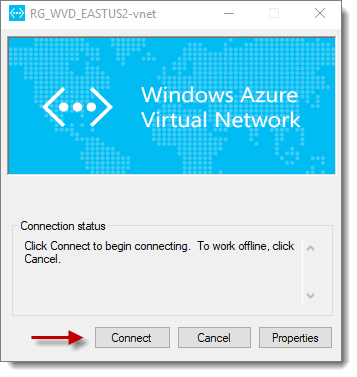connect to azure virtual network