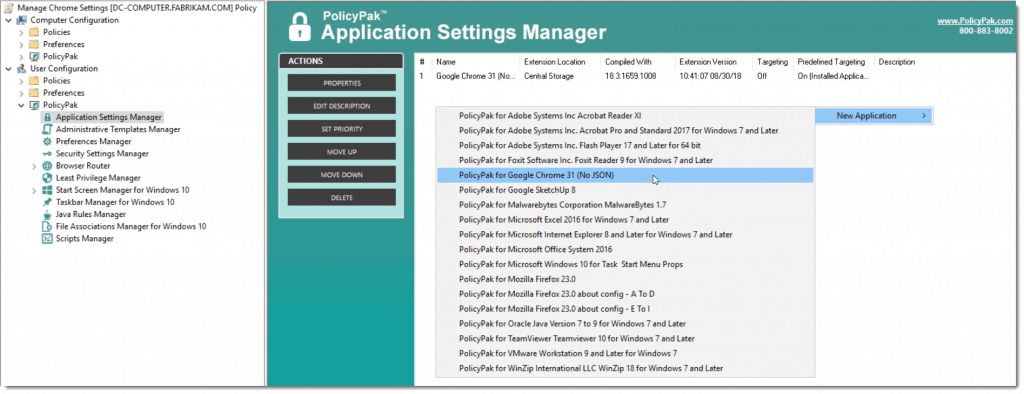 Windows 10 ADMX Application Settings Manager