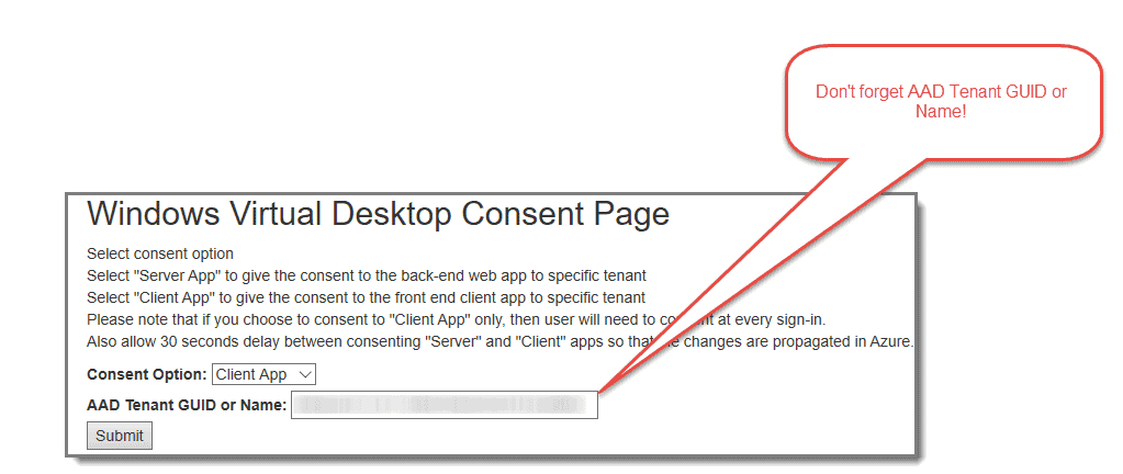 Second Time for Azure Windows Virtual Desktop Consent