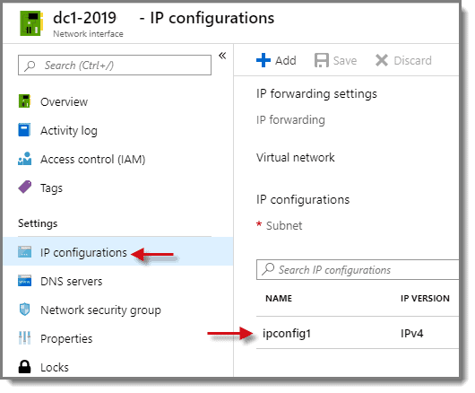 Select IP configuration