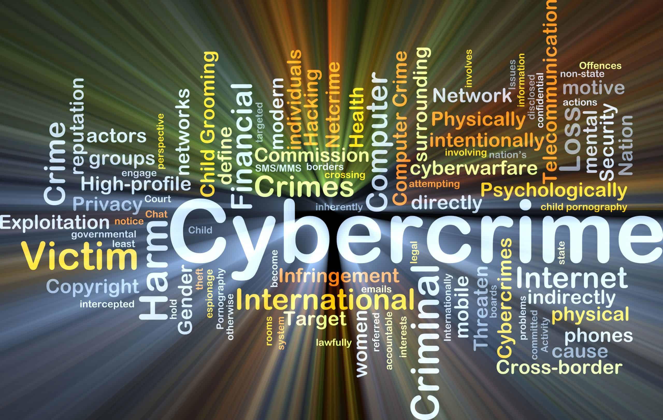 cybercrime word chart
