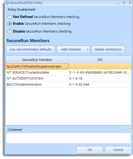 Enable Windows Security SecureRun Policy with PolicyPak