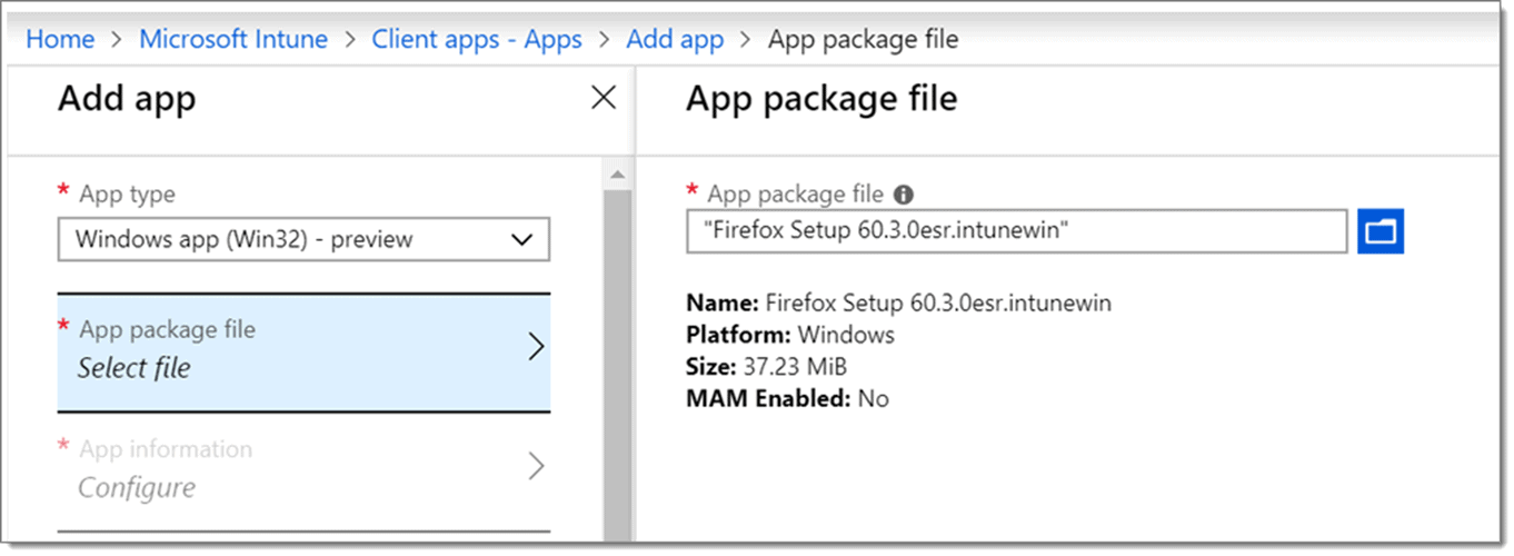 App Package file for software deployment