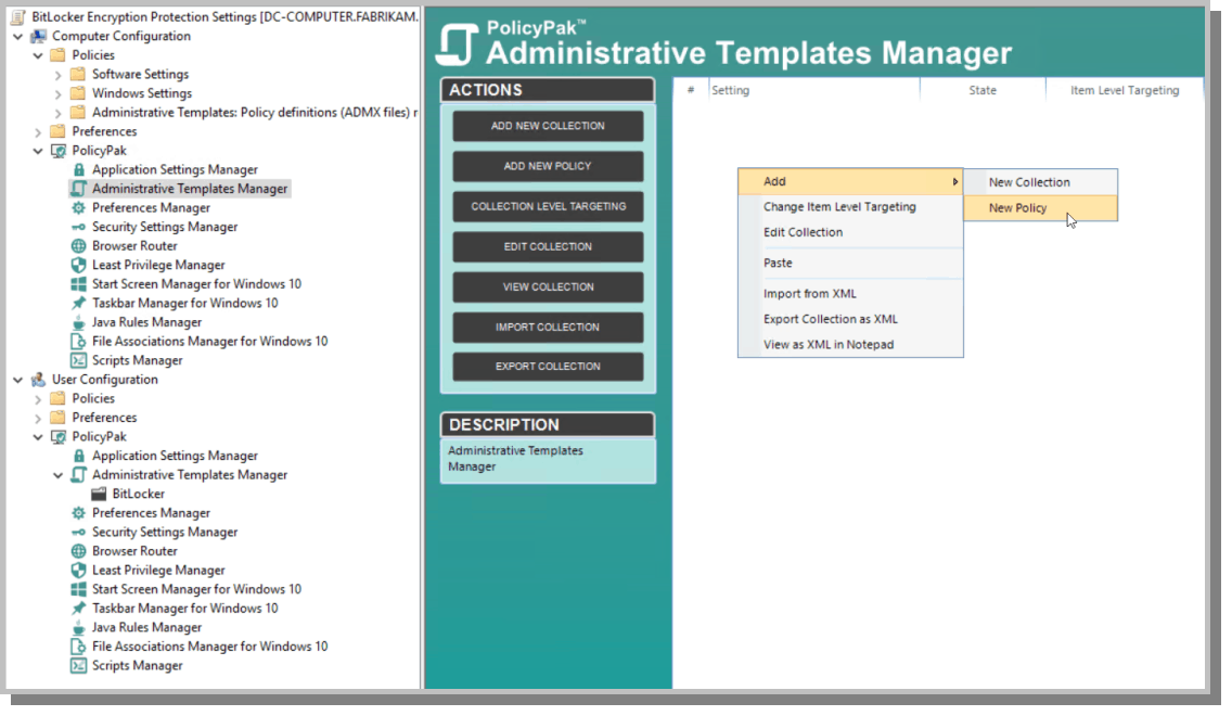 Admin Templates Manager
