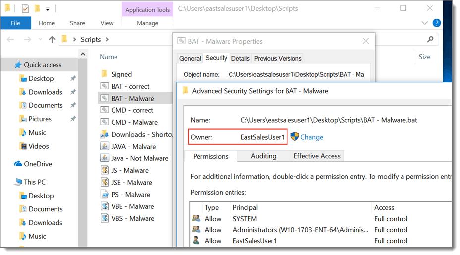 ACSC Malware Example