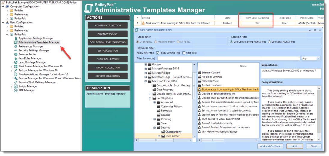 Admin template manager for ACSC blog