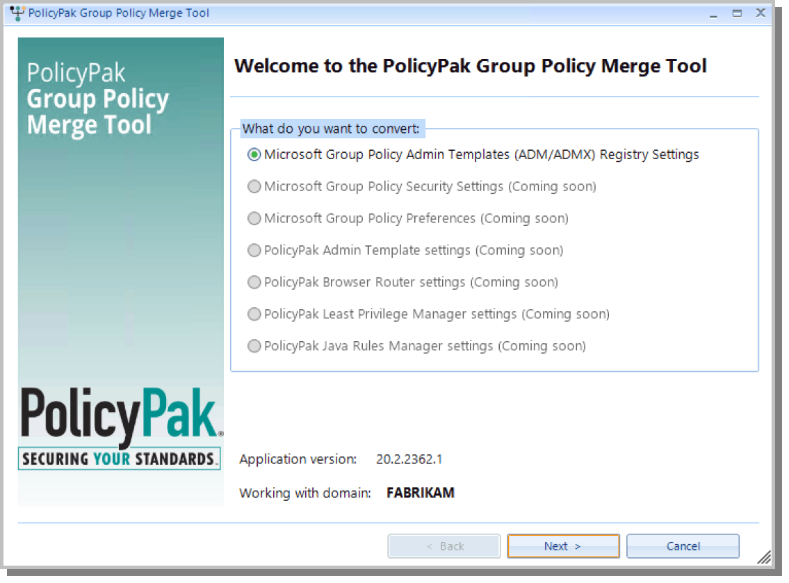 Group Policy Settings Merge Tool