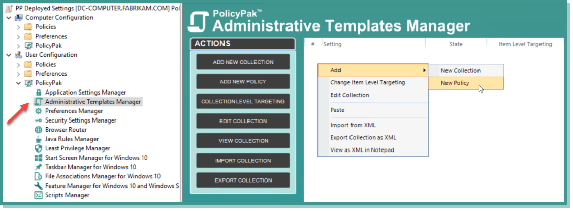 unified endpoint management administrative templates manager
