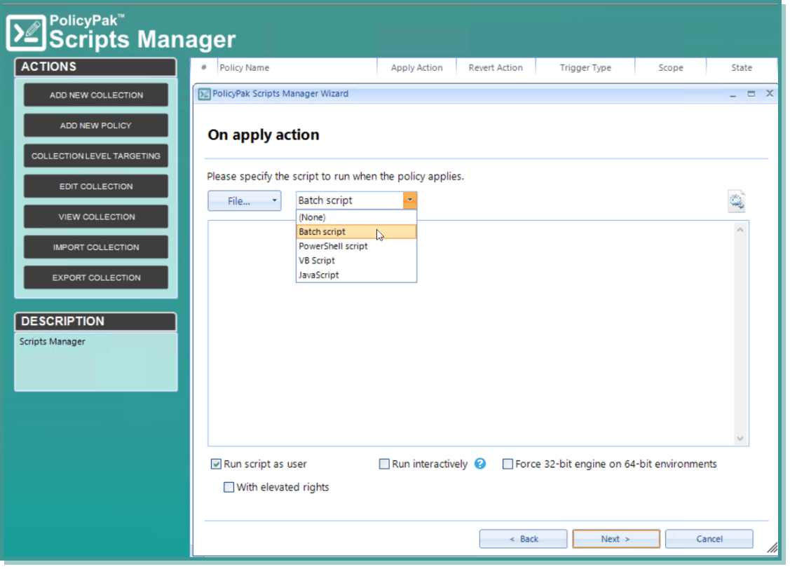 vpn script to select batch script