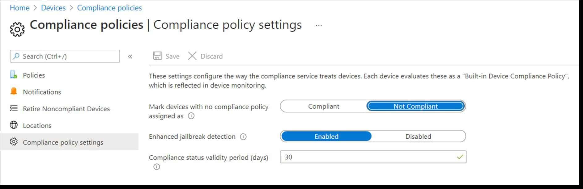 Windows 10 compliance policy
