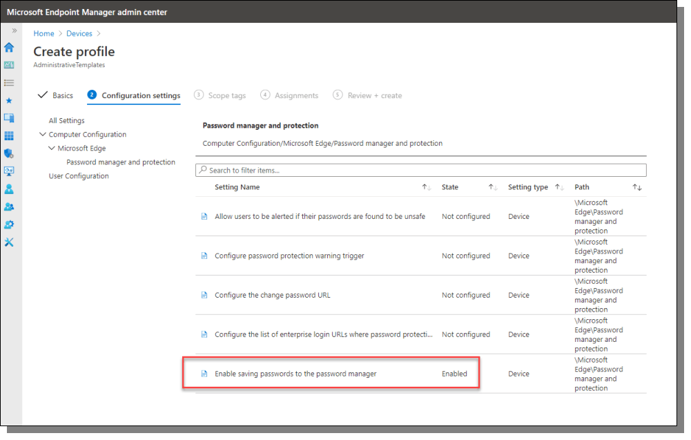 Microsoft Endpoint Manager Admin Center