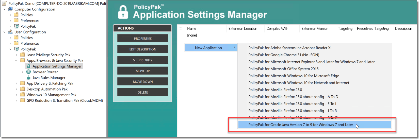 Application Settings Manager