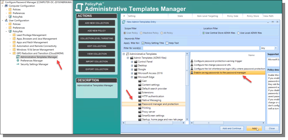 PolicyPak Administrative Templates Manager