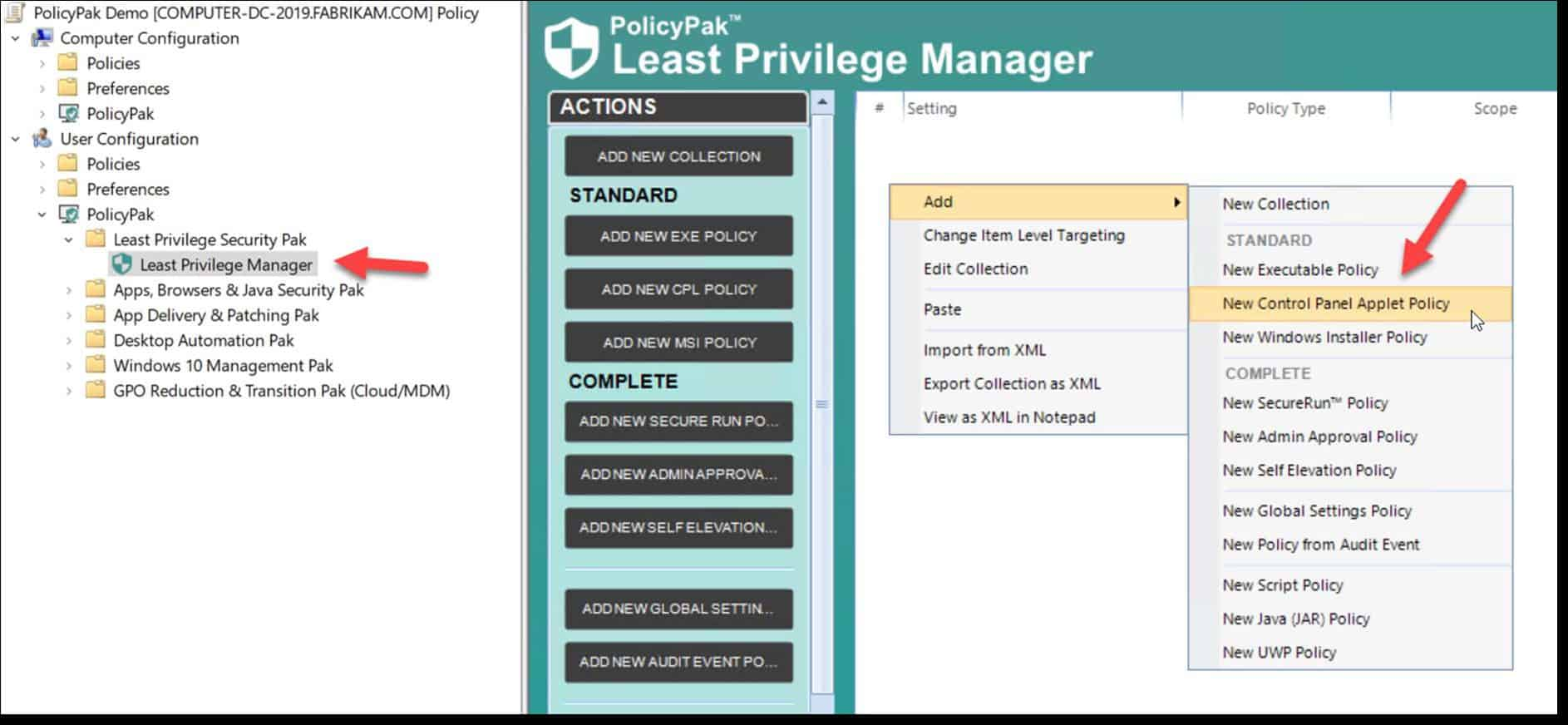 least privilege manager